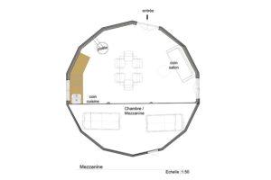 plan-mezzanine-yourte-7-metres