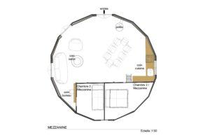 plan-mezzanine-yourte-8-metres